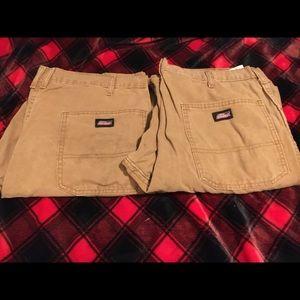 Dickies dungaree work jeans 36x30